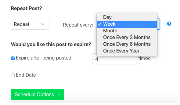 Using OneUp to schedule posts with Google My Business.