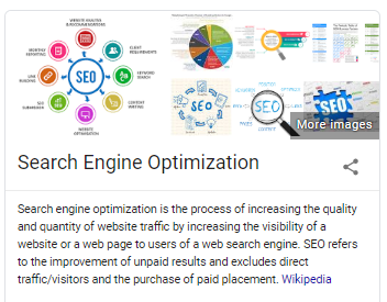 SEO is the process of increasing the quality and quantity of website traffic.